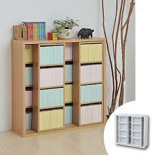 Paperback Bookshelves Livingut Rakuten Global Market Double Slide Bookshelf Bookshelf