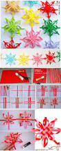 wonderful diy colorful woven star snowflake paper snowflakes