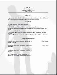 Interest In Resume Sample by Mechanical Engineering Super Cool Ideas Custodian Resume Sample 3