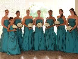 bright turquoise bridesmaid dresses dress images