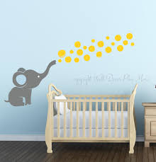 Elephant Room Decor Elephant Wall Decal With Floating Bubbles Cool Nursery Room Decor