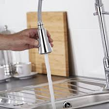 milano chrome pull down spray kitchen tap
