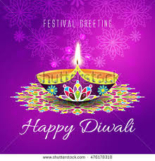 greeting background card diwali festival celebration stock vector