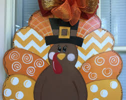 turkey door hanger items similar to fall door hanger acorn fall decorations fall