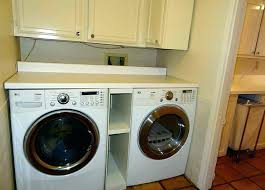 washer and dryer cabinets washer dryer cabinet closet laundry room with ironing board
