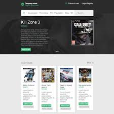 templates for video website ecommerce video games responsive website template