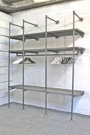 Black Pipe Shelving by Attic Diy Black Iron Industrial Pipe Closet Rods For An Industrial