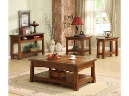 Living Room Setting by Riverside Furniture Craftsman Home Lift Top Coffee Table With