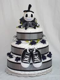 tiered halloween cakes boys 3 tier jack skellington diaper cake if i would of done my