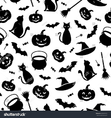 halloween backgrounds seamless black seamless pattern halloween symbols on stock vector 209423674