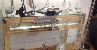 console tables powell mirrored drawer black wood console raw