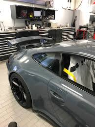 porsche graphite blue gt3 took delivery of our first graphite blue gt3 at work yesterday autos