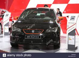 seat leon cupra istanbul autoshow 2015 stock photo royalty free