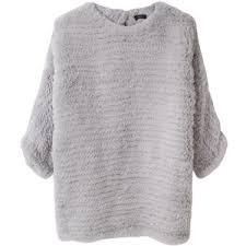 fur sweater joseph knitted rabbit fur sweater polyvore