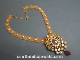 emerald gold necklace jewelry images Uncut diamond necklace design uncut diamond gold necklaces and jpg