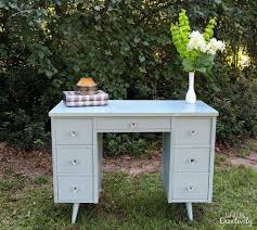 Chalk Paint Desk by Mid Century Modern Chalk Paint Desk Makeover Hometalk
