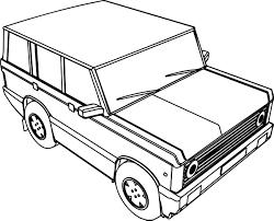 4 wheel basic car coloring page wecoloringpage