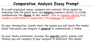 Contrast And Comparison Essay Examples Today Independent Work Day 1 Finish Comparative Essay Work A