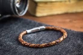 braided cord bracelet images Antiqued brown genuine leather braided cord bracelet men 39 s jpg