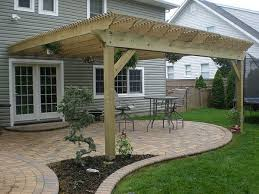 How Much Is A Pergola by How To Build A Pergola Attached To House Pergolas House And