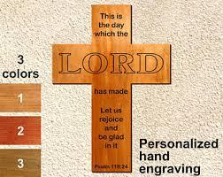 Baptism Engraving Engraved Wall Cross Etsy