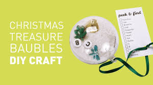peek and find christmas bauble craft educational experience