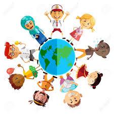 happy children day illustration illustration of children around