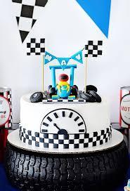 race car birthday cake from a race car birthday party on kara u0027s