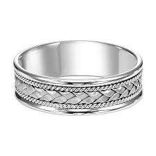 frederick goldman wedding bands 7mm 14k white gold woven band frederick goldman men s bands