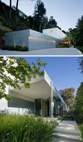 glass front house coldwater canyon residence by eyrc architects contemporist