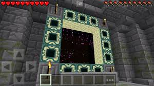 Mpce Maps Working End Portal In Mcpe The End Stronghold Map Minecraft