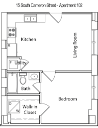 Loft Style Apartment Floor Plans by Single Bedroom House Plans 650 Square Feet Small Apartment Floor