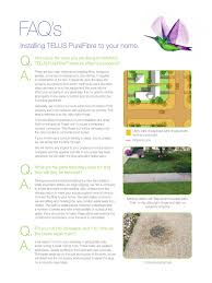 faq installing telus purefibre to your home industries technology