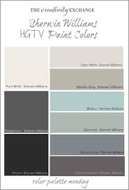 hgtv paint colors from sherwin williams color palette monday