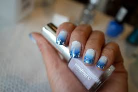 christmas new year nail art tutorial blue ombre nails with