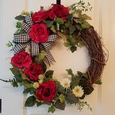 Rose Home Decor Rose Wreath Front Door Wreath Everyday Wreath Summer Wreath