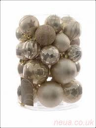 pk 30 x 80 60mm shatterproof baubles pearl outlet