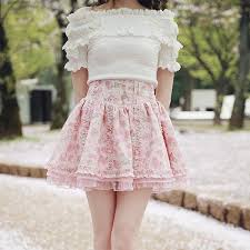 high waisted skirt white pink ruffle high waisted skirt sp179351