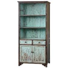 alto global bazaar distressed teal reclaimed fir wood cabinet