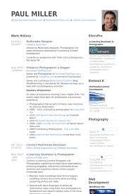 Photographer Sample Resume by Multimedia Designer Resume Samples Visualcv Resume Samples Database