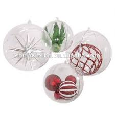 brand new clear plastic acrylic fillable ornament 80mm buy