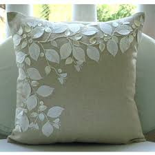 Pillow Covers For Sofa by Handmade Ecru Cushion Covers Rail Of Leaves Mother Of Pearls
