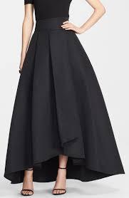 elegant red taffeta high low skirts for woman 2015 new fashion