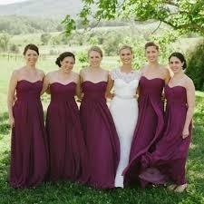 plum wedding dresses classical plum bridesmaid dresses a line plus size flowing chiffon