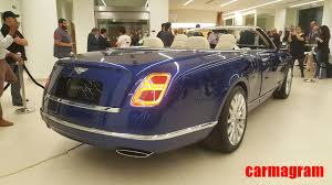 bentley mulsanne convertible bentley grand convertible by mulliner blue u0026 silver exterior