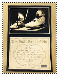 Writing activity to go with the book The Best Part of Me by Wendy