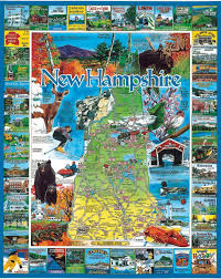 Map Of Vermont And New Hampshire Amazon Com White Mountain Puzzles Best Of New Hampshire 1000