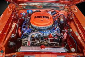 Dodge Challenger Engine - 1970 dodge challenger r t se hemi classic car photography by