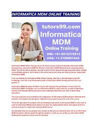 Mdm Resume Informatica Mdm Online Training