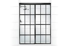 Black Shower Door Gridscape Shower Door Collection Jlc Shower Doors